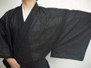 縞紗 男性用 黒